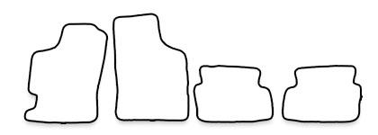 Auto-Fußmatten für Renault Laguna 1 Phase 1+2 B56/K56