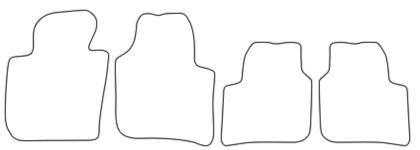 Auto-Fußmatten für Skoda Superb 2 Typ 3T Bj. 2008-