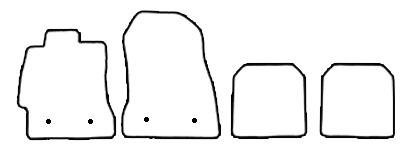 Auto-Fußmatten für Toyota GT86
