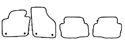 Auto-Fußmatten für VW Sharan 2 7N