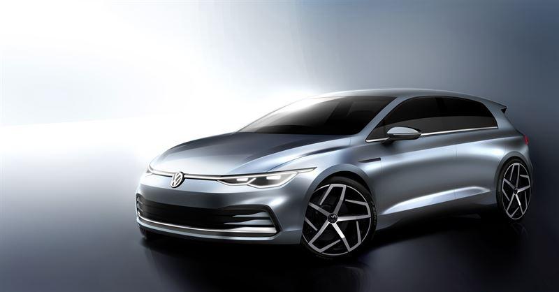 Uusi Volkswagen Golf on lähtöviivalla