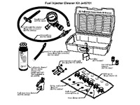 Kent-Moore J45701 Fuel Injector Cleaner Kit