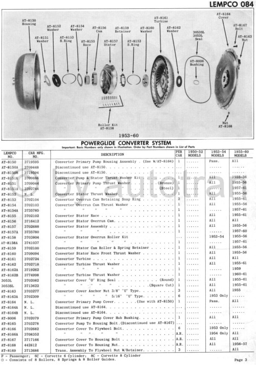 small resolution of 1953 60 split converter system page 3