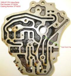 1955 57 valve body back p n 3719234 casting 3719233  [ 2234 x 2302 Pixel ]