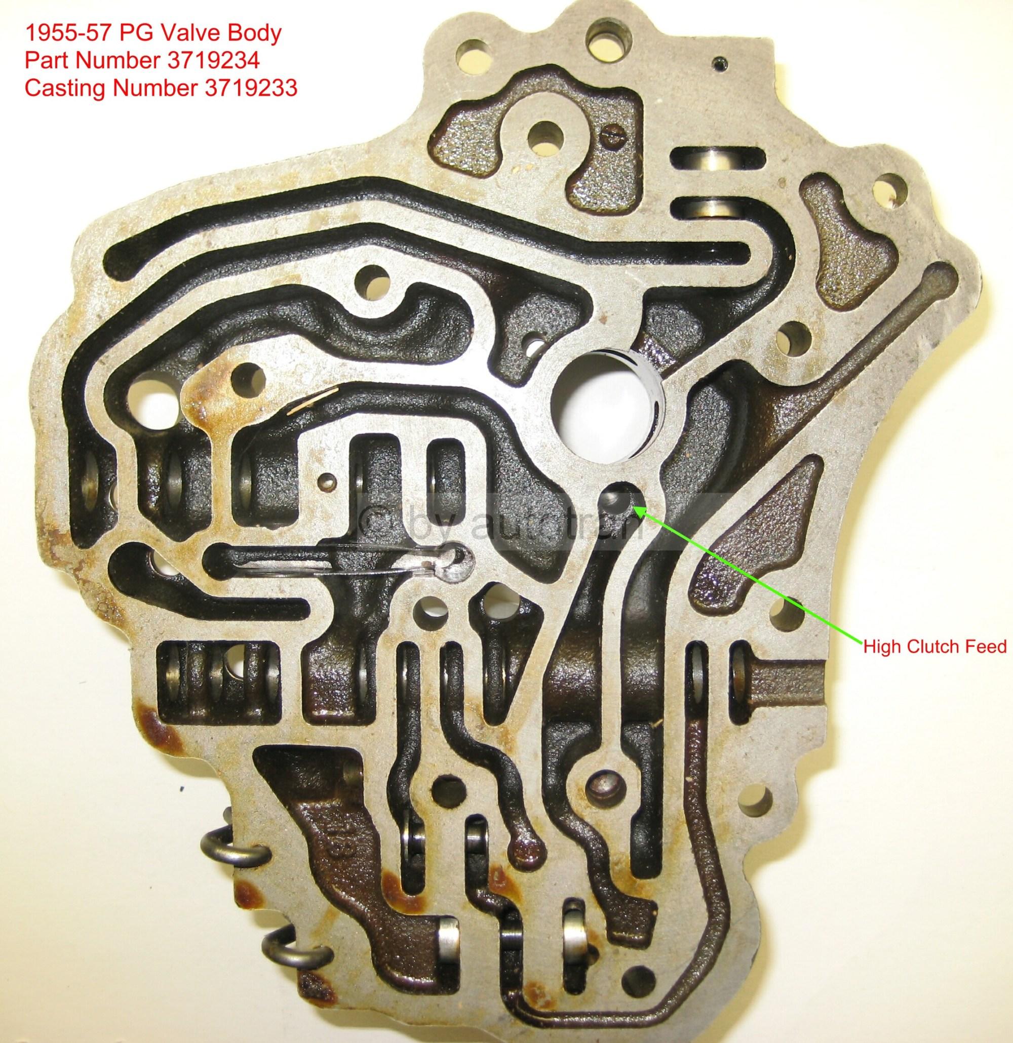 hight resolution of 1955 57 valve body back p n 3719234 casting 3719233