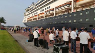 Deja crucero Ms Zaandan derrama económica en Chiapas