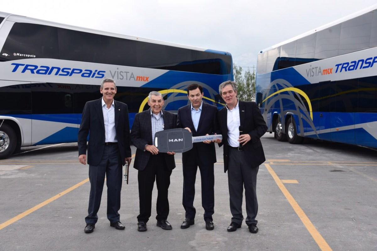 Entrega MAN primeros 12 Autobuses doble piso a Transpais