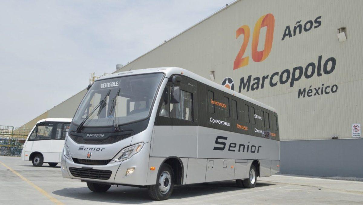 Marcopolo, resiliente ante la crisis; lanza el midibús Senior