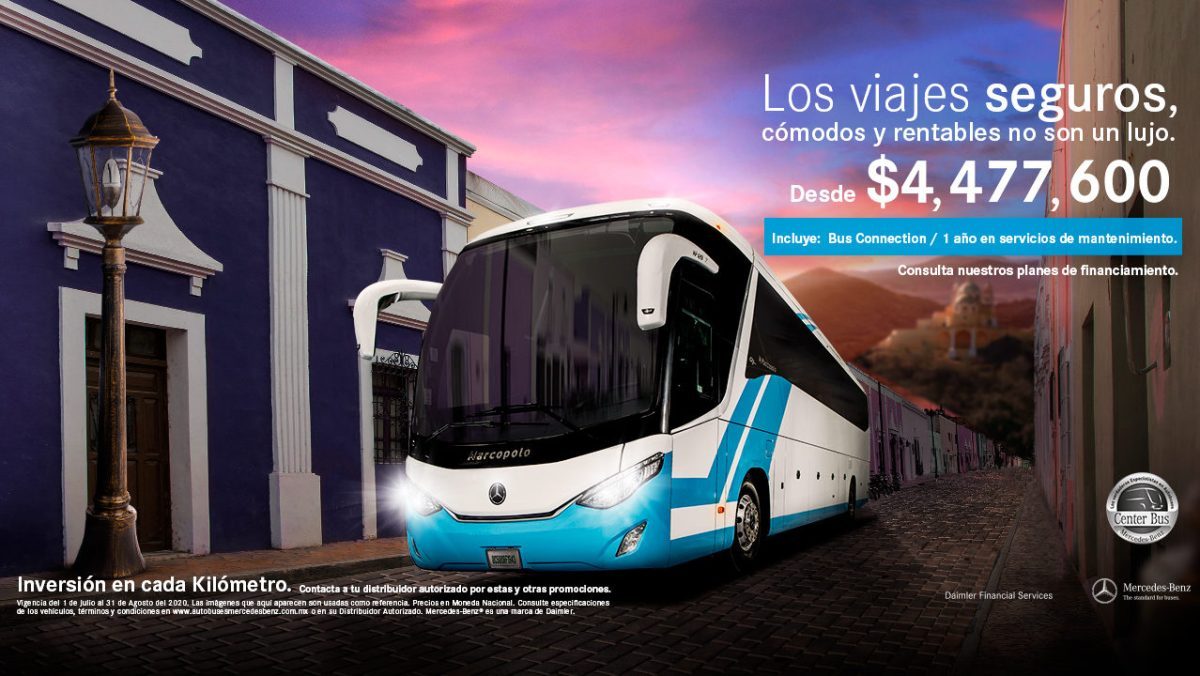 Mercedes-Benz, con planes especiales para reactivar el transporte turístico