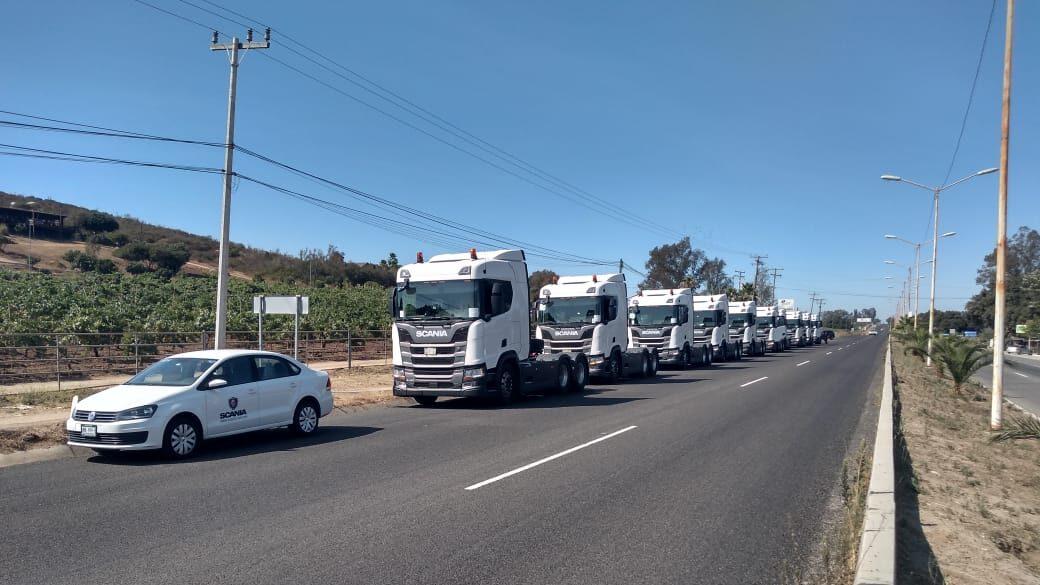 Transportes Santa Lucía, con la flota de camiones Scania más grande de México