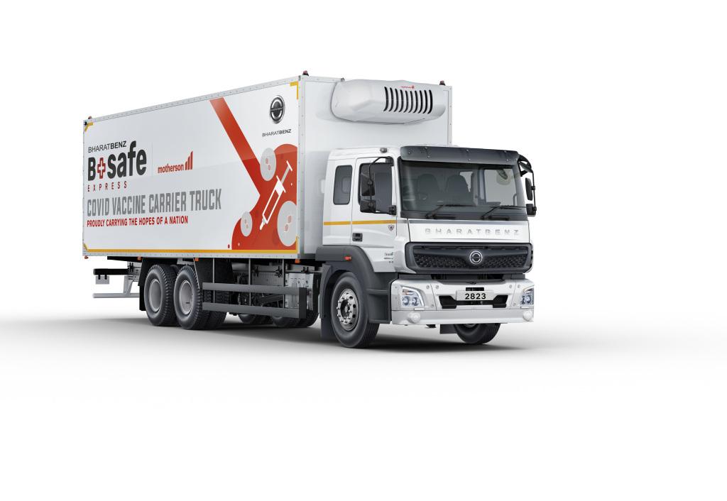 Presenta Daimler camión para transporte de vacunas COVID-19 en la India