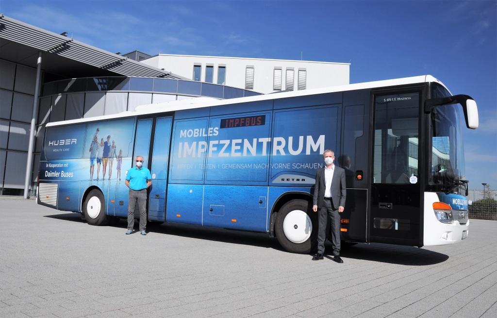 Entra en operación autobús de vacunación Setra en Alemania