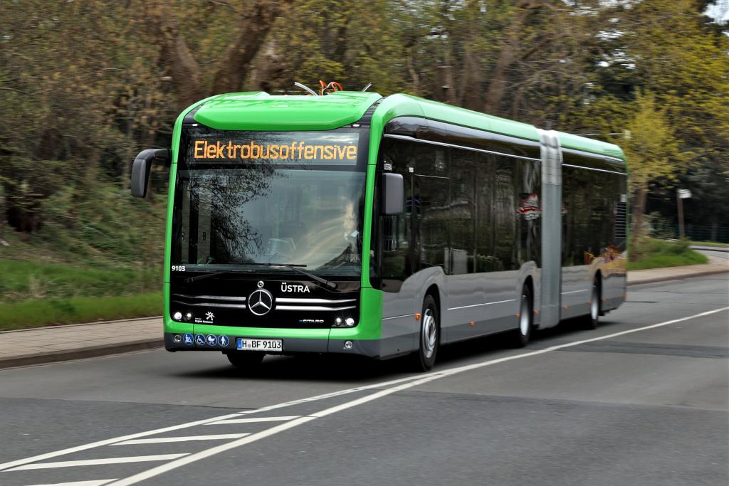 eCitaro G de Mercedes-Benz llega a Hannover con nueva generación de baterías