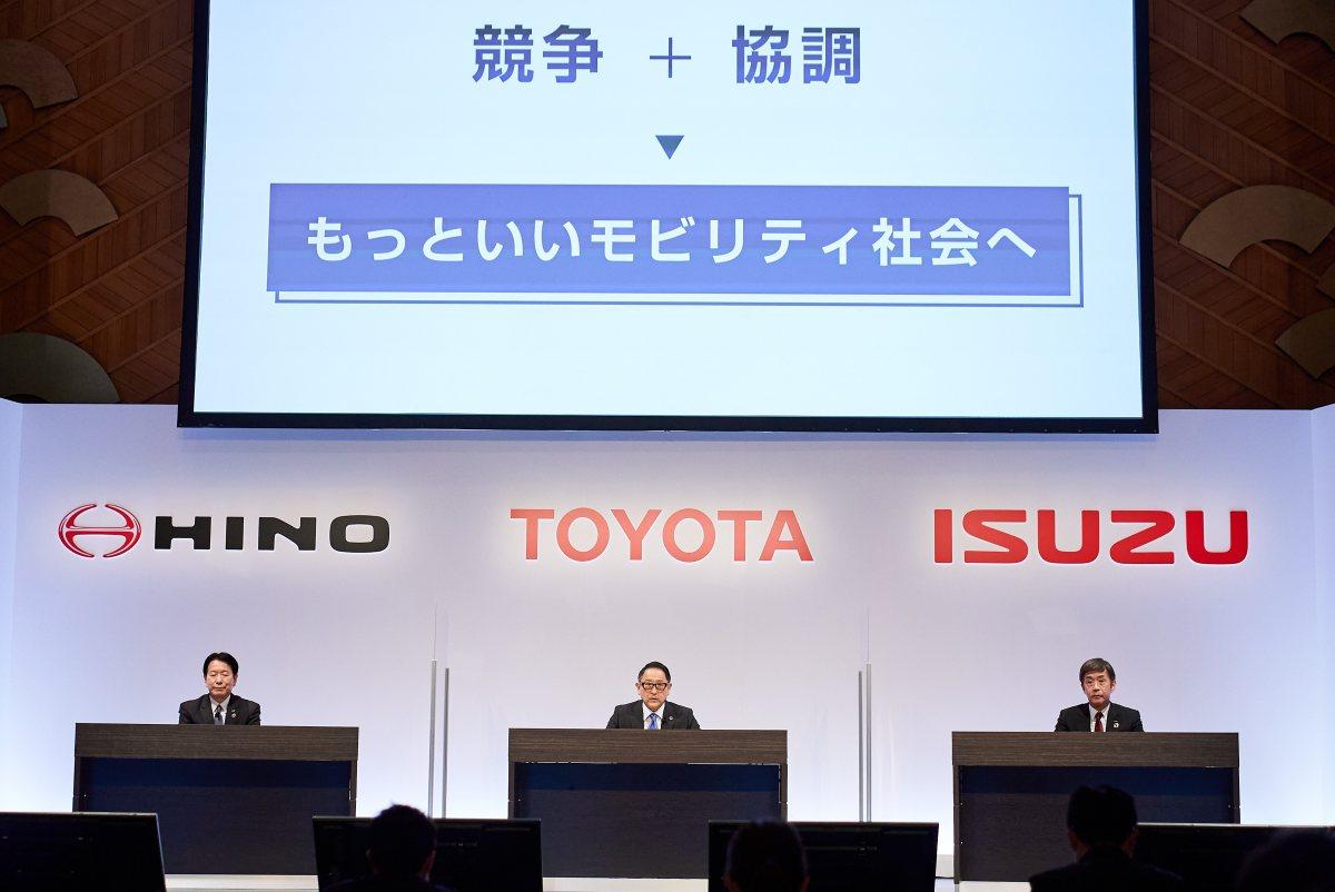 Isuzu, Hino y Toyota se asocian para impulsar tecnologías CASE en vehículos comerciales