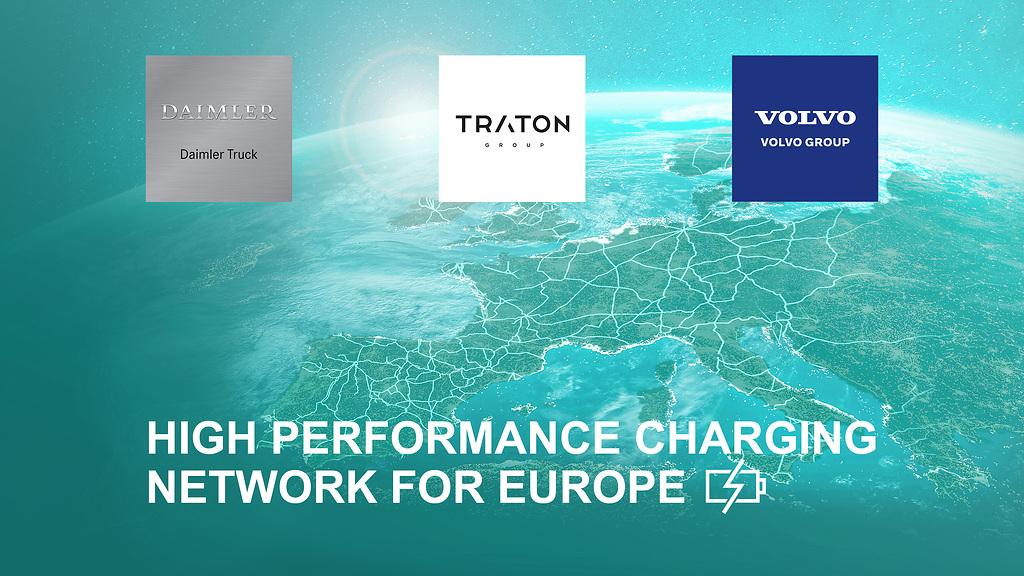 Daimler Truck, TRATON y Volvo Group se alian para instalar una red europea de carga para pesados