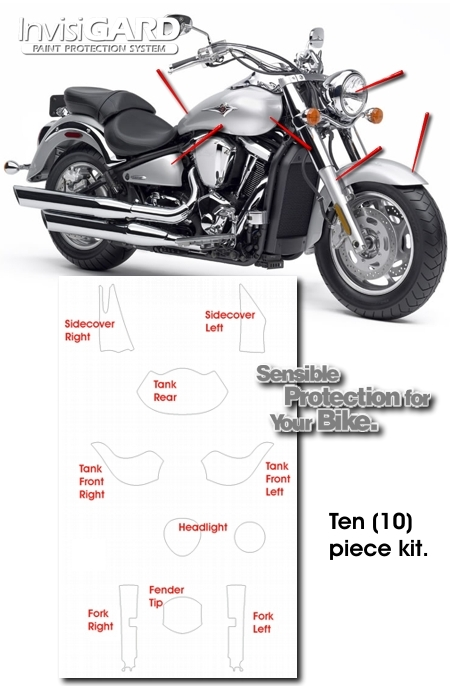 InvisiGARD Plastic Protection Kit for Kawasaki Vulcan 2000