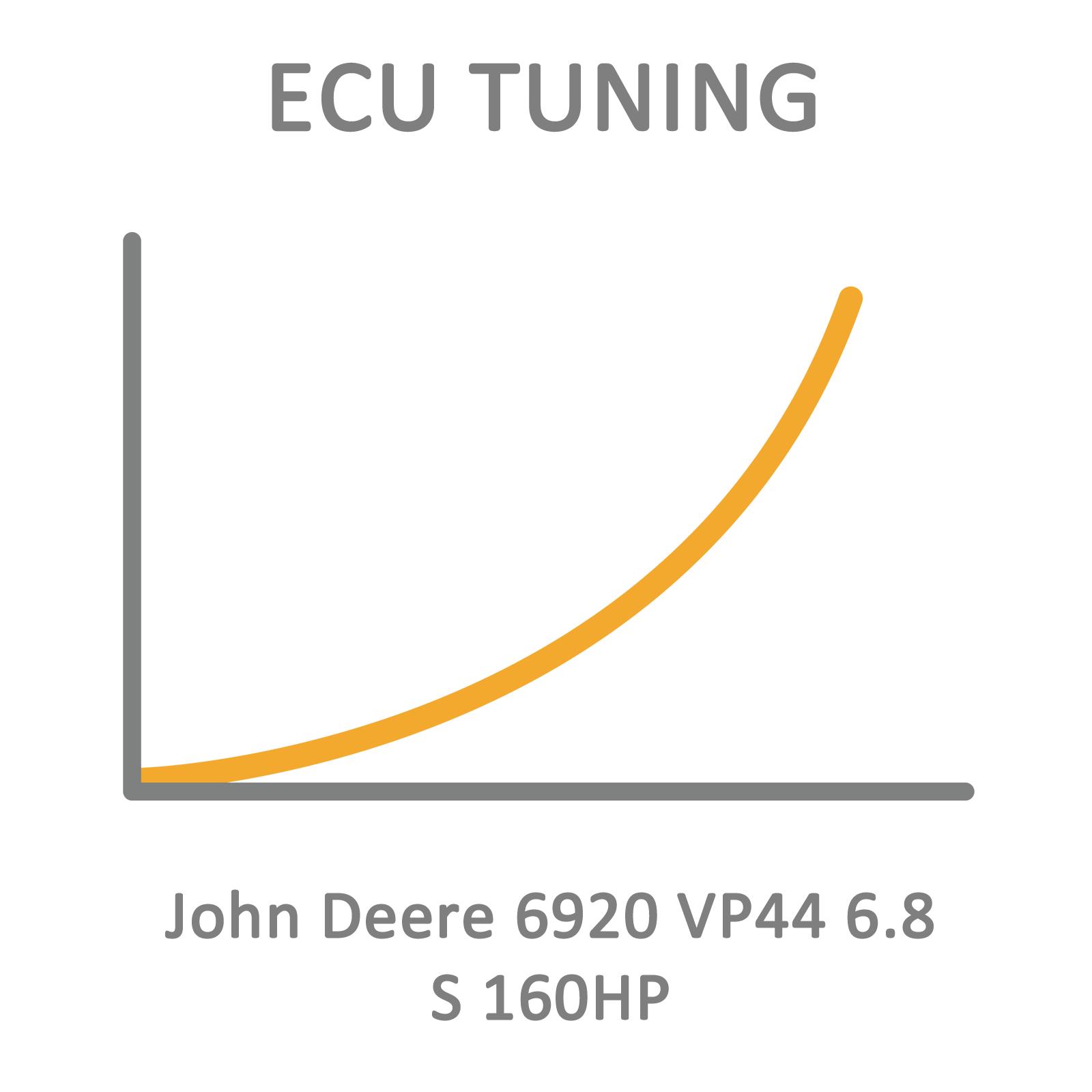 John Deere 6920 VP44 6.8 S 160HP ECU Tuning Remapping
