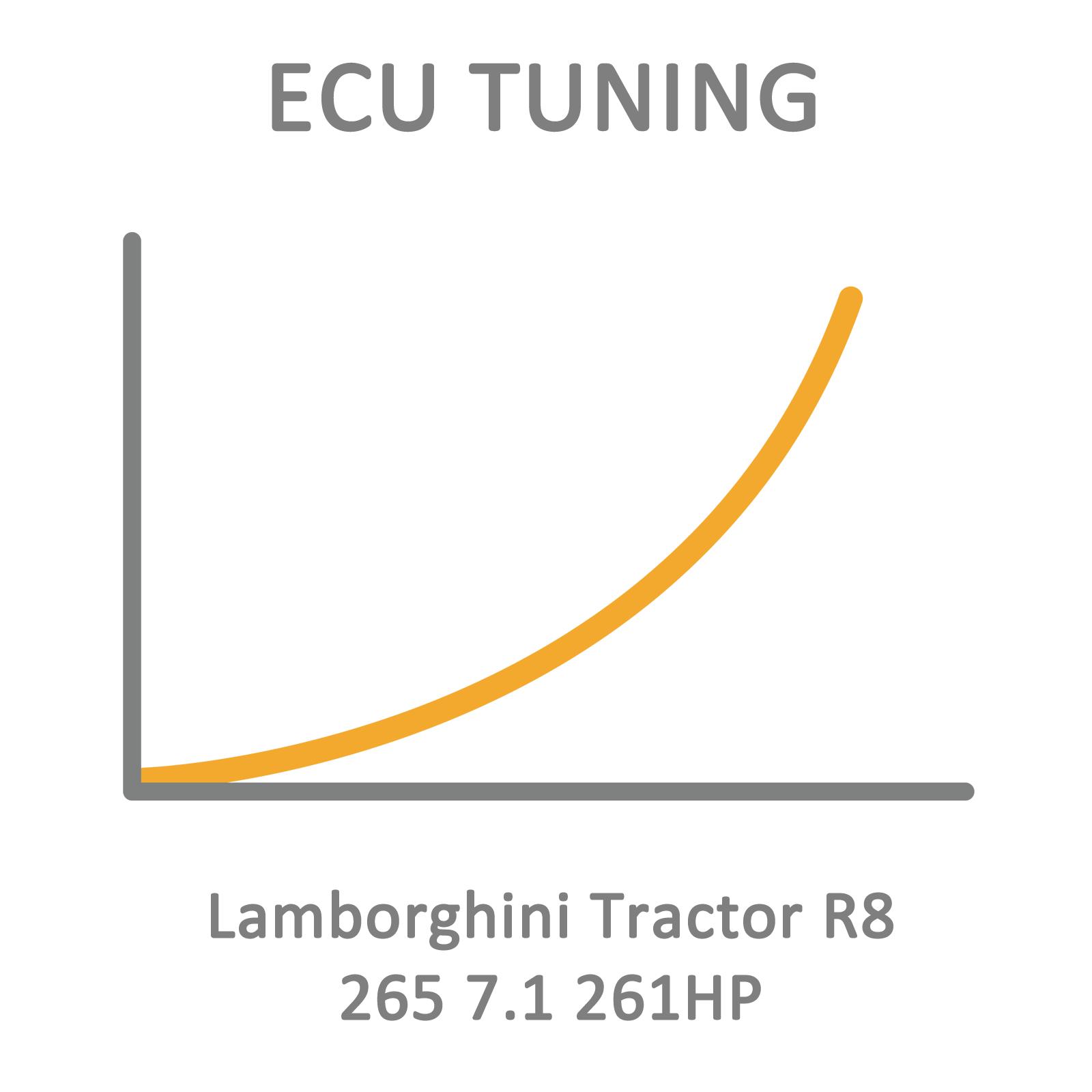 Lamborghini Tractor R8 265 7.1 261HP ECU Tuning Remapping