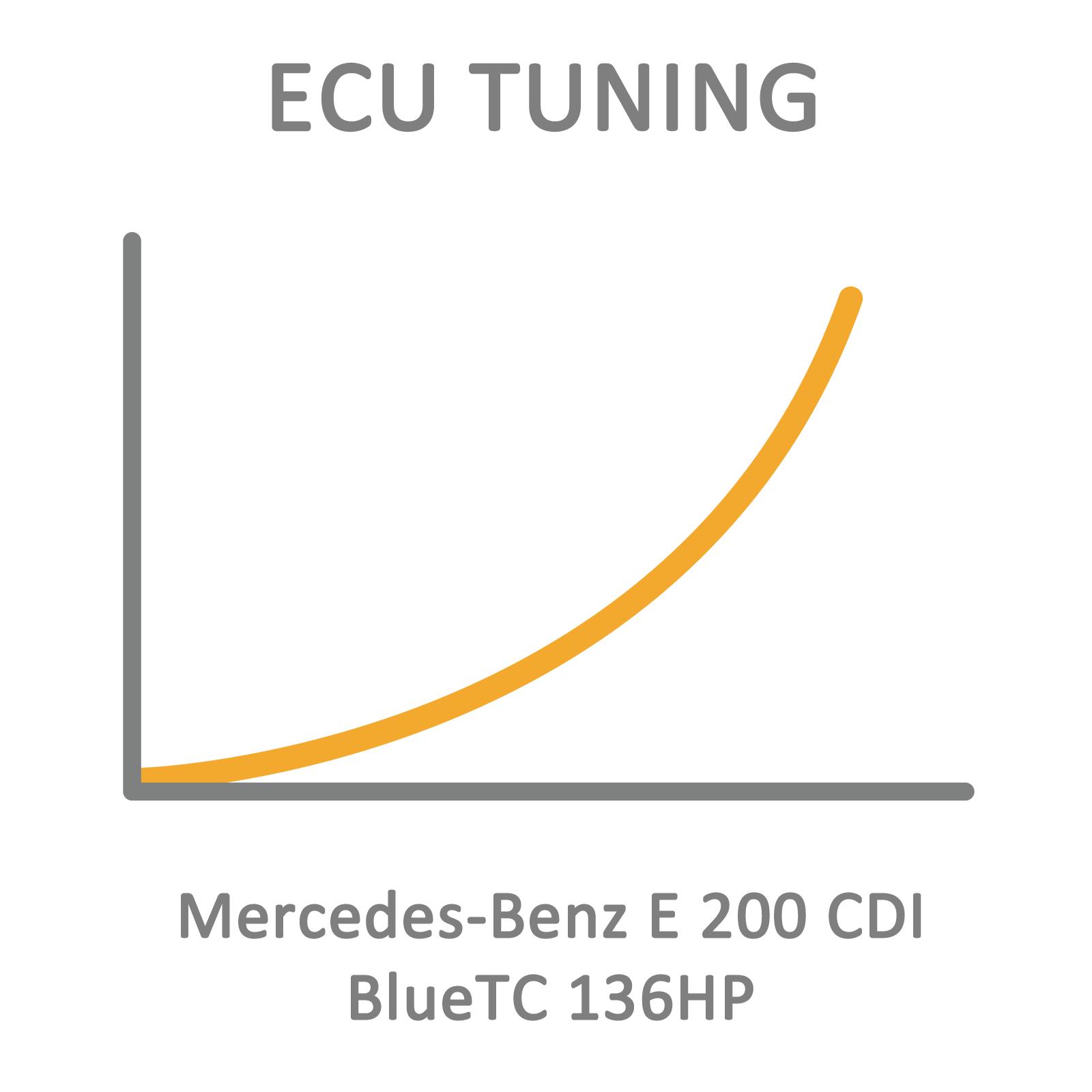 Mercedes-Benz E 200 CDI BlueTC 136HP ECU Tuning Remapping
