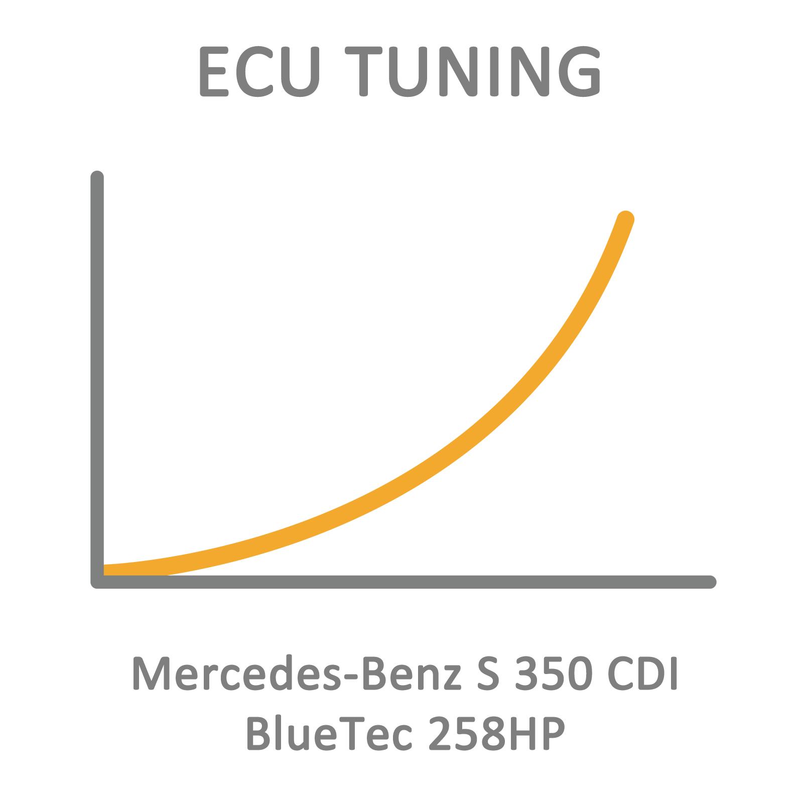 Mercedes-Benz S 350 CDI BlueTec 258HP ECU Tuning Remapping