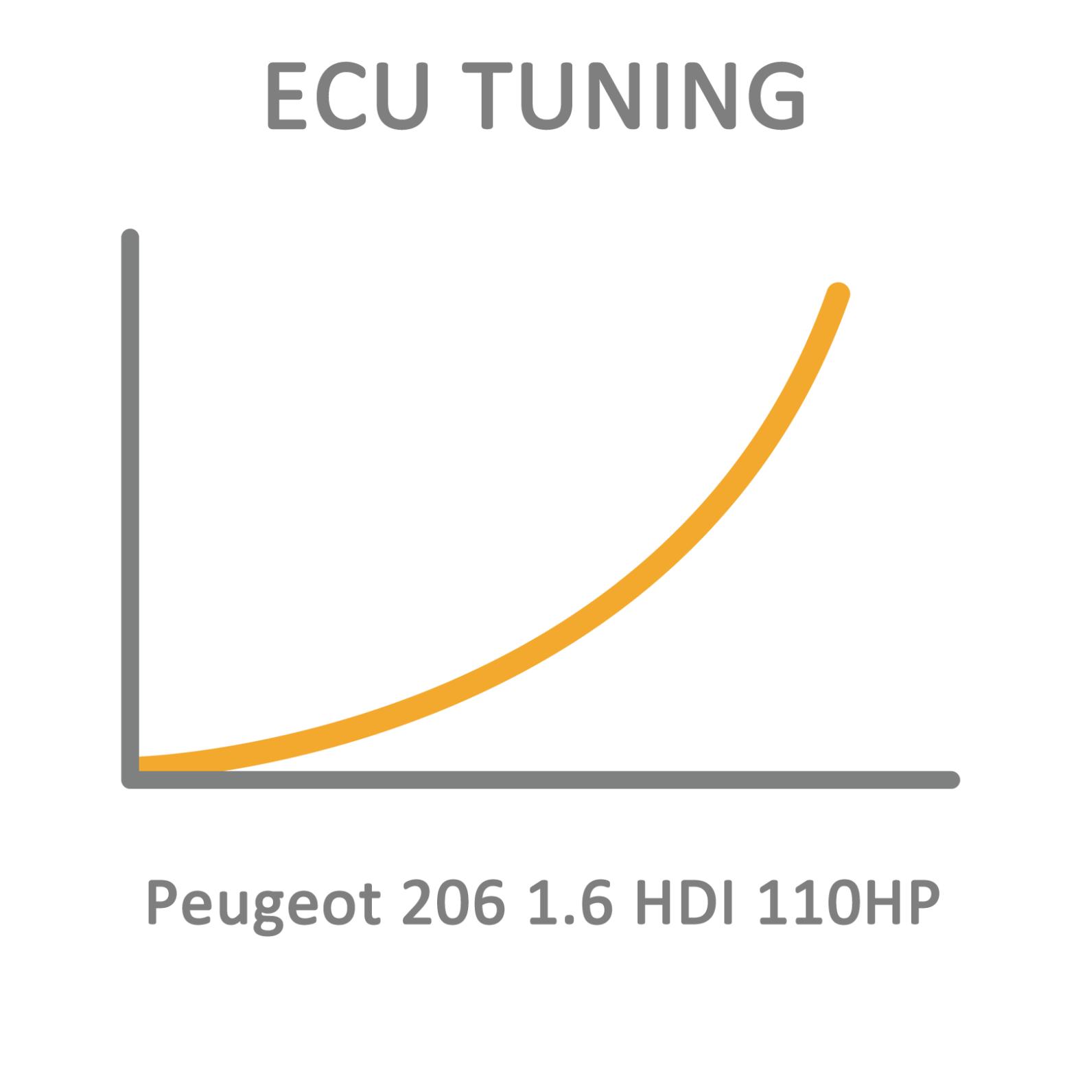 Peugeot 206 1.6 HDI 110HP ECU Tuning Remapping Programming