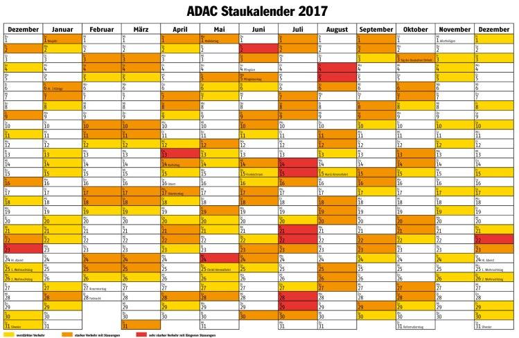 ADAC Staukalender 2017