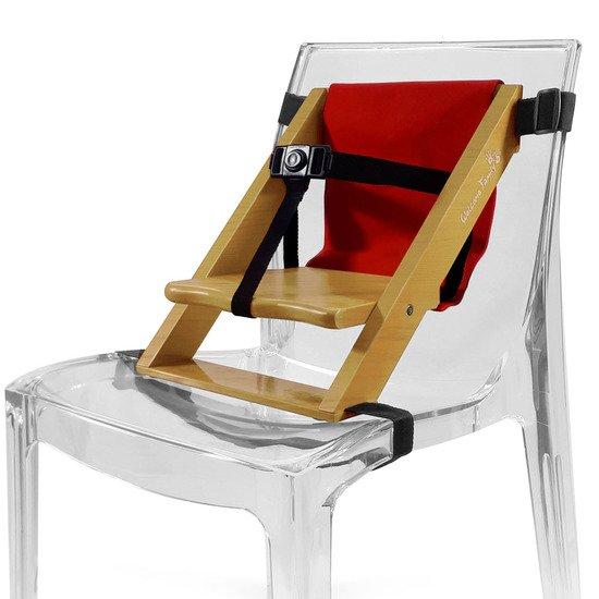 rehausseur pour chaise tissus rouge