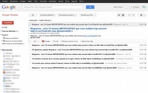 twitter rss 500x314 5 outils pour gérer la e réputation d'un blogueur