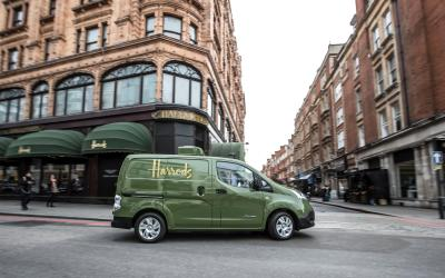 Harrods adds all-electric Nissan e-NV200 to their fleet