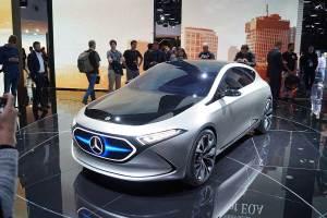 Mercedes bietet mit dem EQA Elektro in der Kompaktklasse. Foto: Flehmer