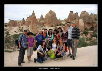 Tout le groupe dans les Cappadoce