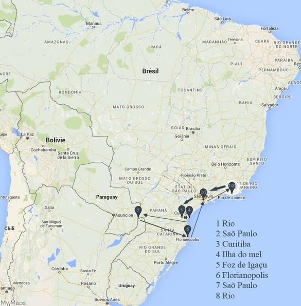 Mon périple au Brésil