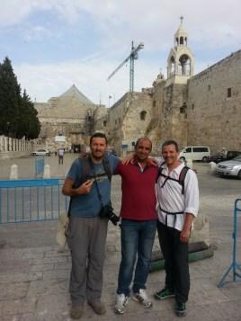 avec notre chauffeur de taxi à Bethlehem en Palestine