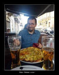 un bonne pizza à Palerme