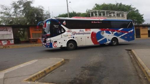 notre bus depuis Cuenca