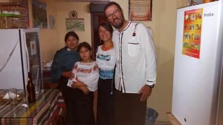 dîner avec Blanca et sa fille Eva Marisa
