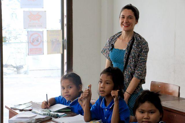 Une classe dans le temple de Wat Pho