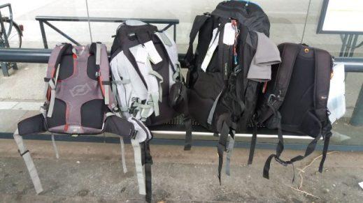 En voyage les sacs