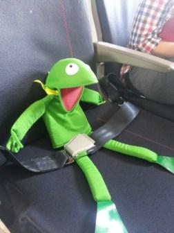 Thiermit dans l'avion