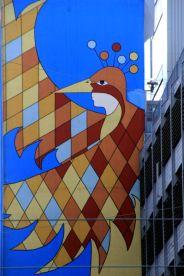 une fresque murale près de la gare centrale