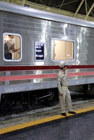 notre train pour Chiang Mai