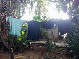 notre lessive dans notre hôtel, notre petit paradis, le Sabaidee House