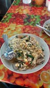 Pad Thaï ... avec des coques.