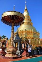 l'ombrelle en or à Wat Phra That Hariphunchai