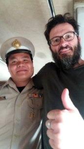rencontre avec le contrôleur dans notre train de Ayyuthaya à Bangkok