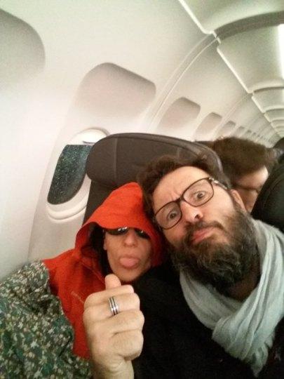 dans l'avion du retour :(