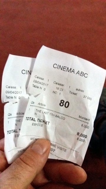 tickets de ciné