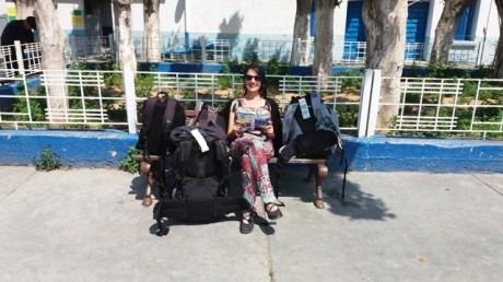 Laura dans la gare de Sousse