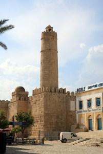le Ribat, vu de l'extérieur, dans la médina de Sousse