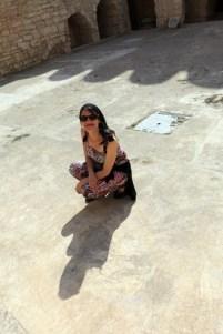 Laura dans le Ribat dans la médina de Sousse